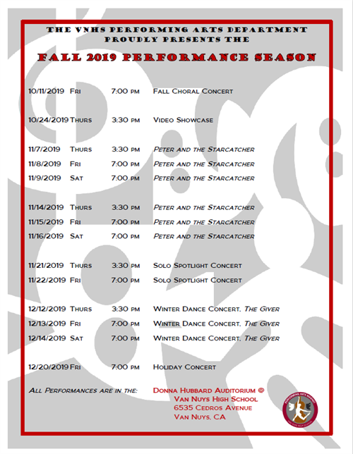 Fall Performance Season