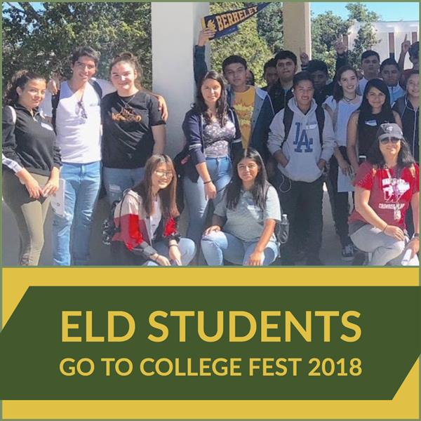 ELD Students go to College Fest 2018