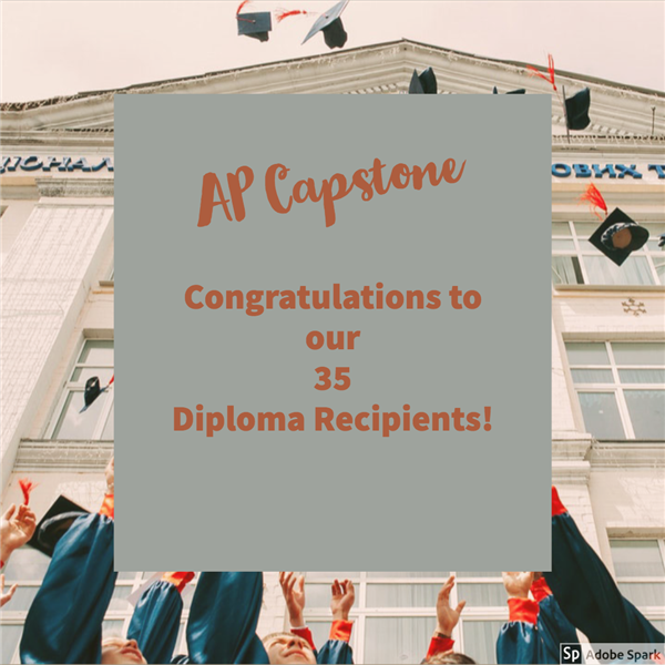 35 AP Capstone Diploma Recipients